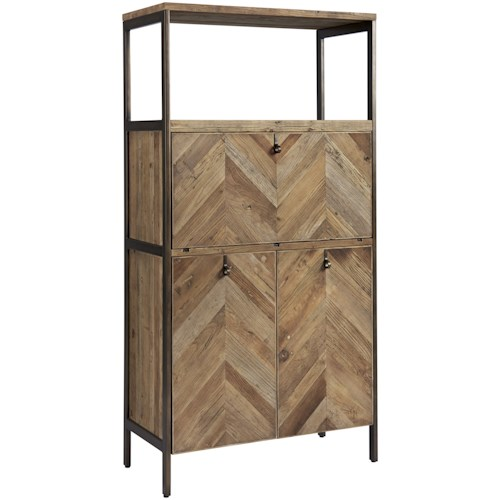 Universal Curated Langston Bar Cabinet with LED Lighting
