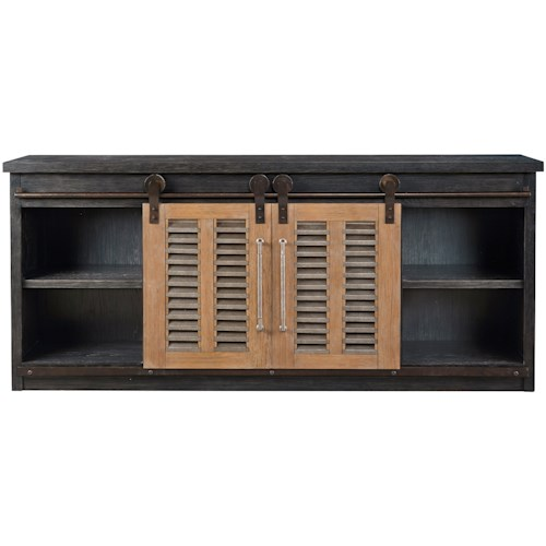 Universal Curated Merritt Entertainment Console with Sliding Doors