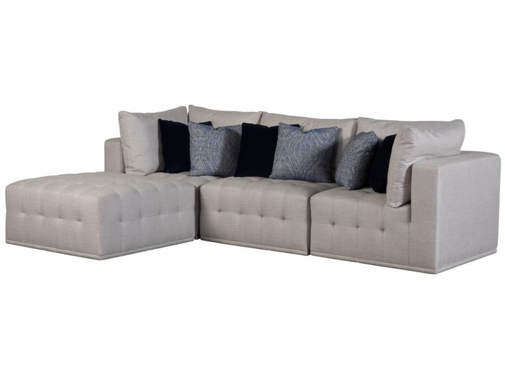 Universal Donovan 898541-889 Contemporary 4-Piece Sectional ...