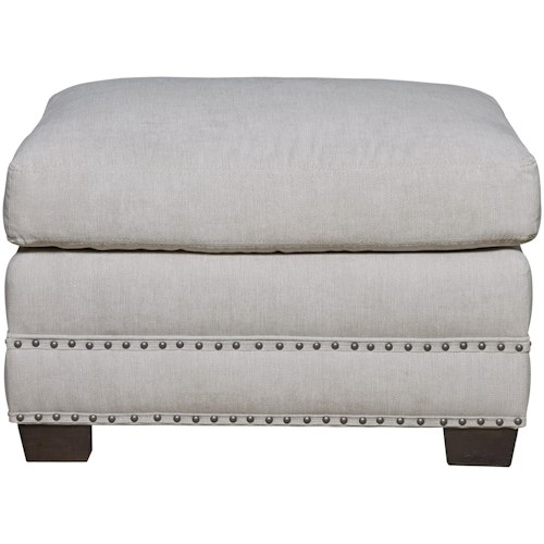 Universal Franklin Street Ottoman in Performance Fabric