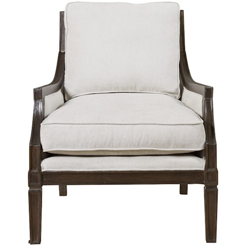 Universal Franklin Street Accent Chair with Vicuña Finished Wood Frame