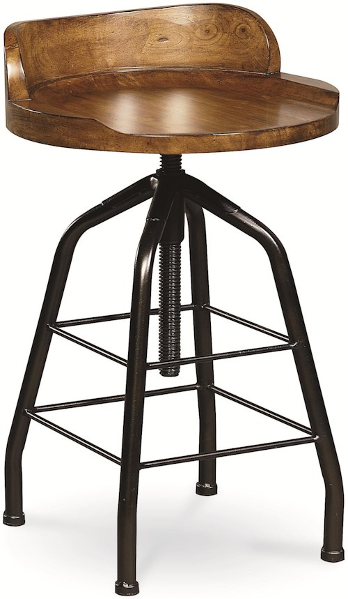 Universal Curated Potter's Stool with Swivel Height Adjustment
