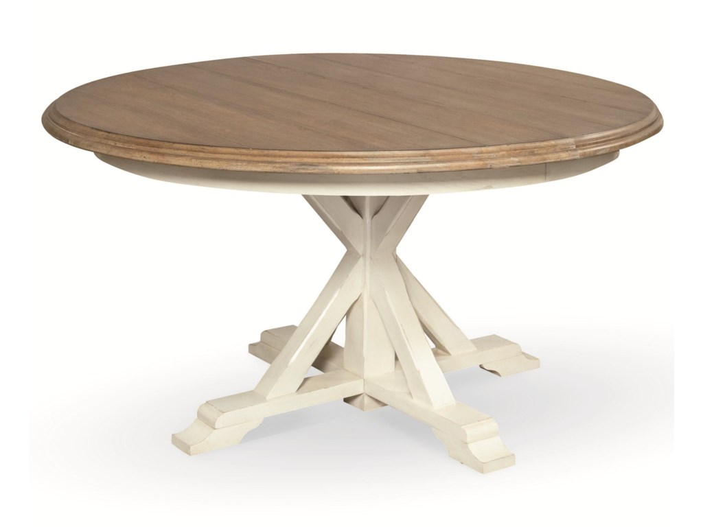 universal curated round single pedestal garden breakfast table olindes furniture kitchen tables