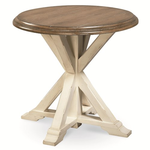 Universal Curated Garden End Table with Pedestal Base