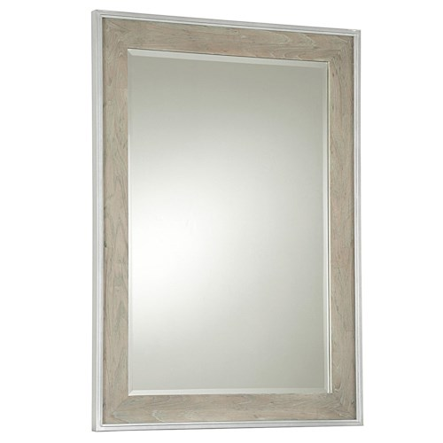 Universal Curated Vertical Spencer Beveled Glass Mirror