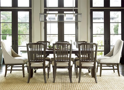 Universal Curated 9 Piece Dining Set with Chelsea Kitchen Table