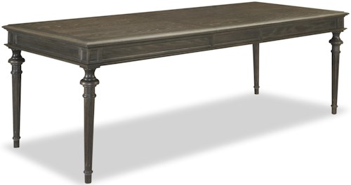 Universal Curated Tribeca Leg Table with 18 Inch Leaf