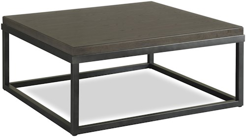 Universal Curated Square Cocktail Table with Metal Frame