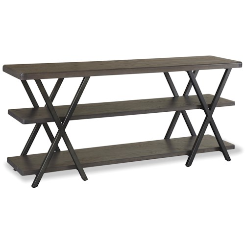 Universal Curated Entertainment Console with 2 Shelves