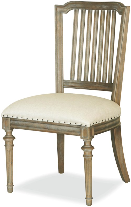 Universal Curated Cafe Dining Side Chair with Nailhead Trim