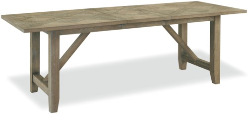 Universal Curated Chelsea Kitchen Table with Trestle Base