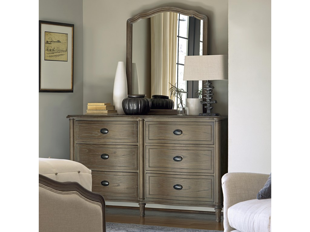 Wittman & Co. CuratedDrawer Dresser and Mirror Set