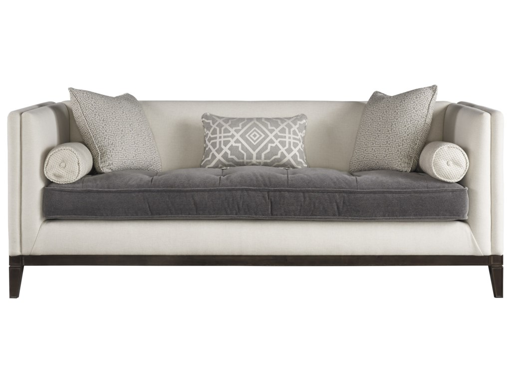 Universal Hartley 678501 610 Sofa With Tufted Contrasting Seat Cushion Hudson S Furniture Sofas
