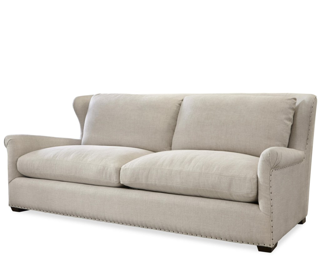 Wittman Co Haven Transitional Sofa With Rolled Arms And Spaced  ~ What Is A Transitional Sofa