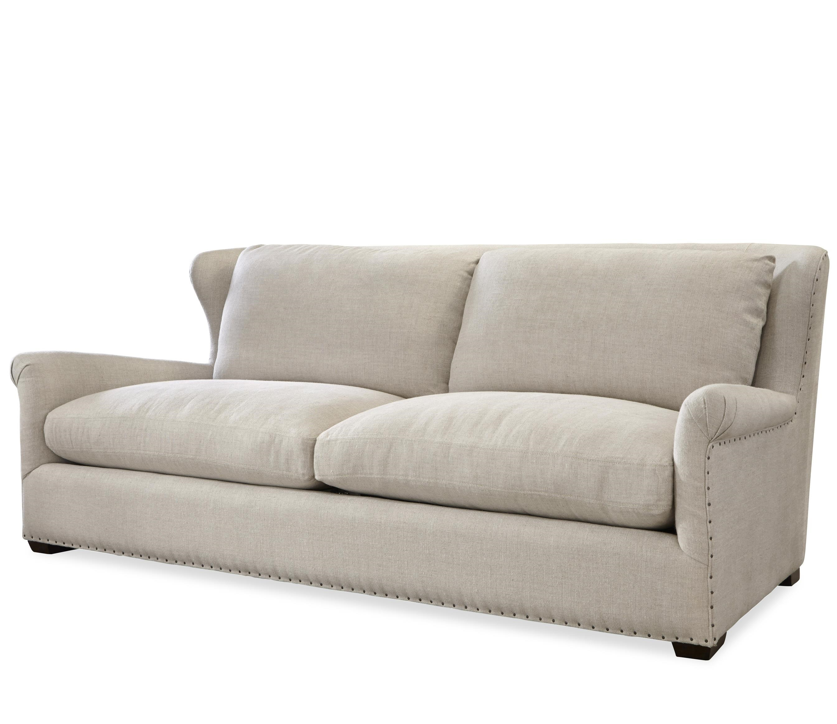 OCONNOR DESIGNS Haven Transitional Sofa With Rolled Arms And Spaced Nailhead
