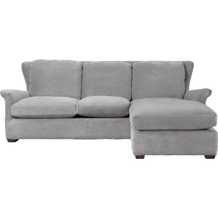 Sofa Chaise with Ottoman