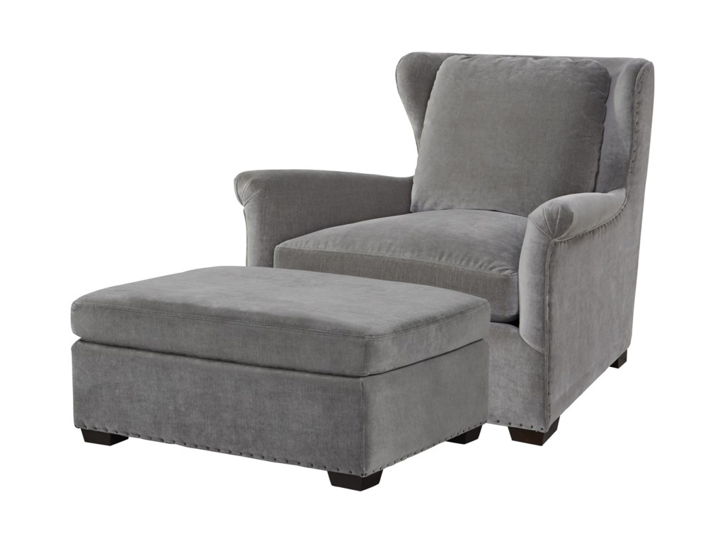 Universal HavenTransitional Chair and Ottoman Set