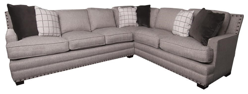Wittman Co Kinsey Sectional Sofa With Decorative Pillows And