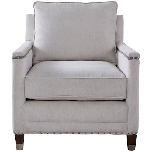 Universal Merrill Contemporary Chair with Nail Head Trim