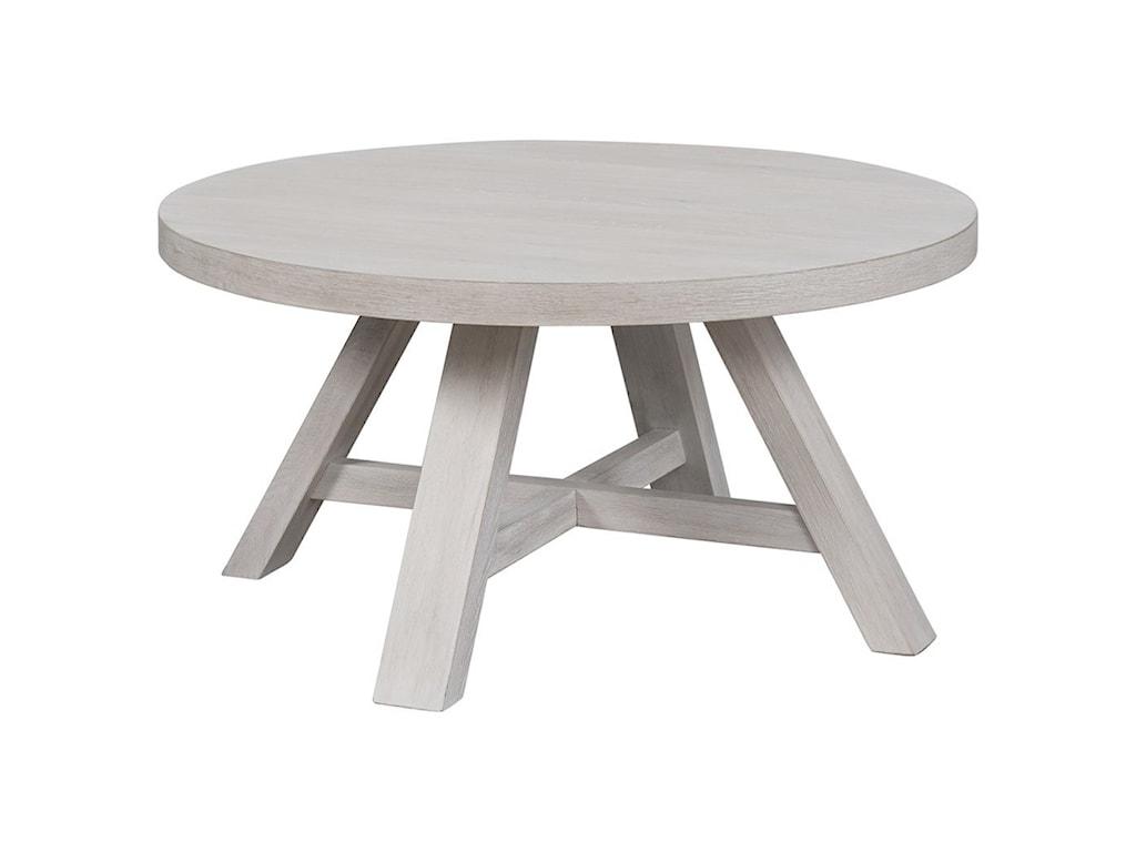 Universal Modern FarmhouseRound Cocktail Table