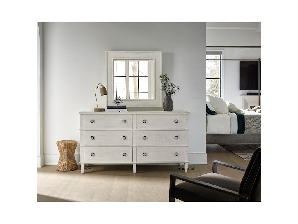 Universal Modern FarmhouseSix Drawer Dresser