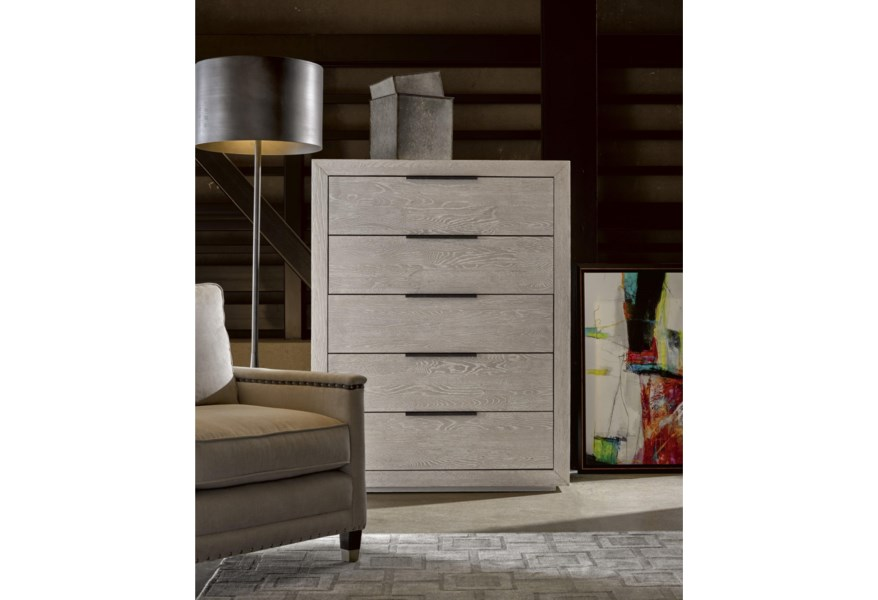 Modern Contemporary Huston Drawer Chest with Cedar Lined Bottom Drawer by  OCONNOR DESIGNS at Sprintz Furniture