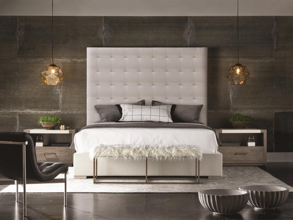 universal modern brando bed with tufted headboard. universal modern b brando bed with tufted headboard  baer's