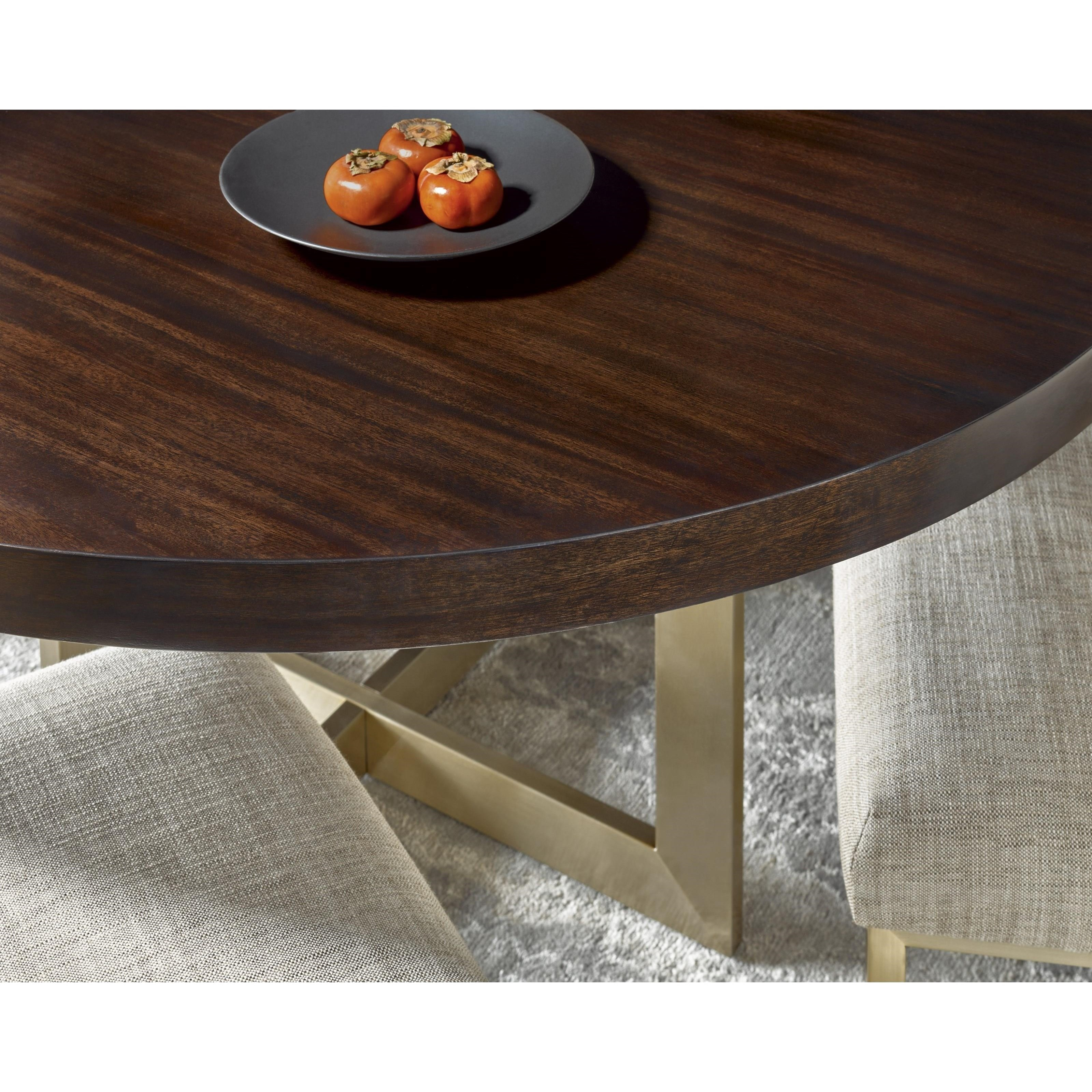 Universal Modern 644757 Gibson Round Dining Table With Brushed Brass Base