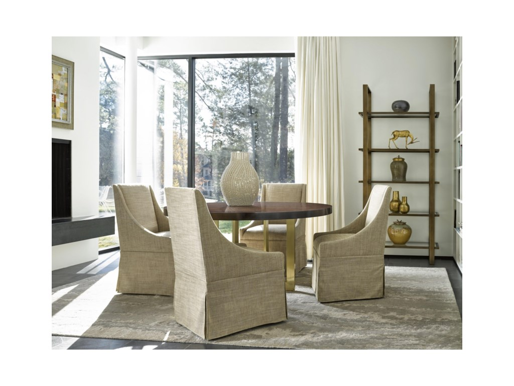 Wittman co modern gibson round dining table with brushed brass moderngibson round dining table dzzzfo