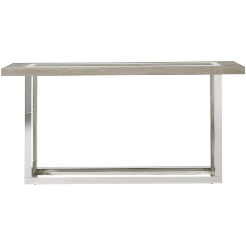 Great Rooms Modern Wyatt Console Table with Stainless Steal Base