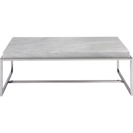 Cocktail Table with Stone Top