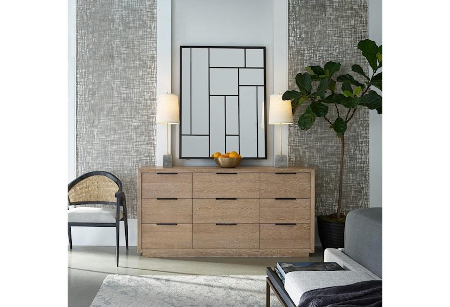 Universal Modern Sand Demille Mirror With Geometrical Design
