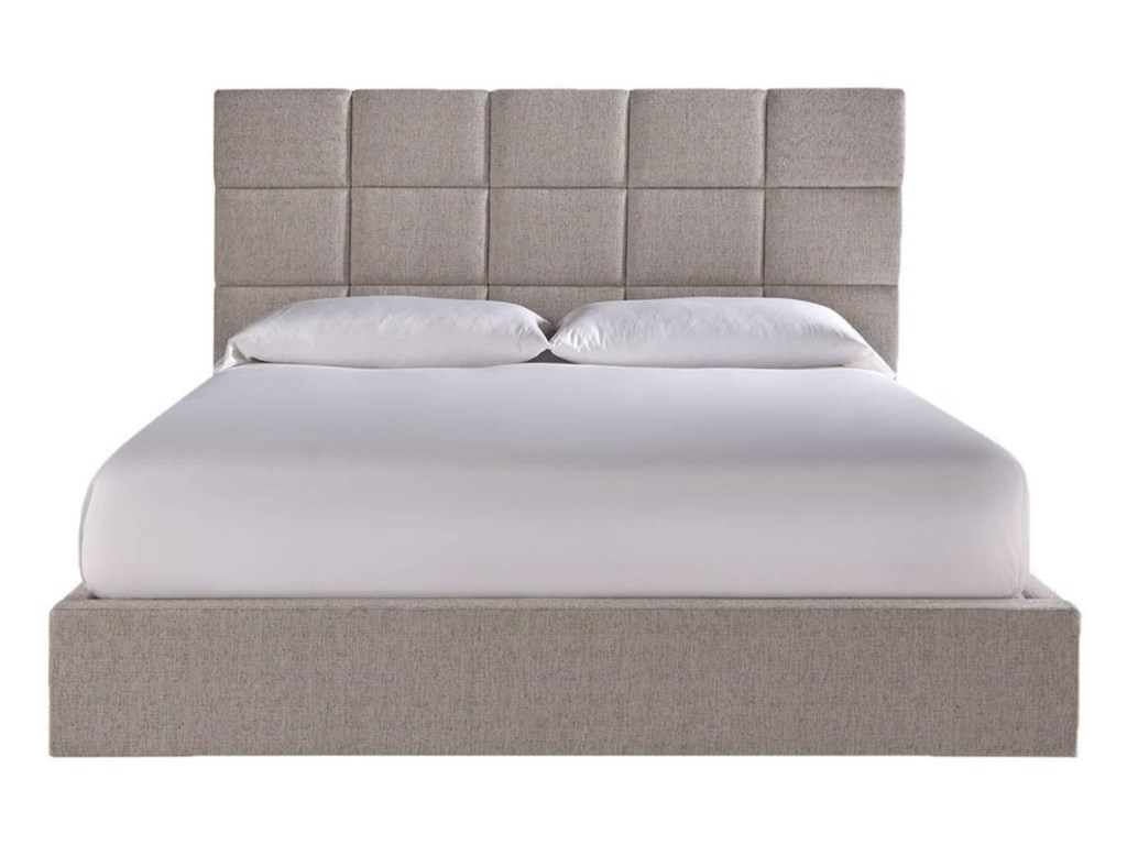 modern onyx bacall queen bed with upholstered headboard