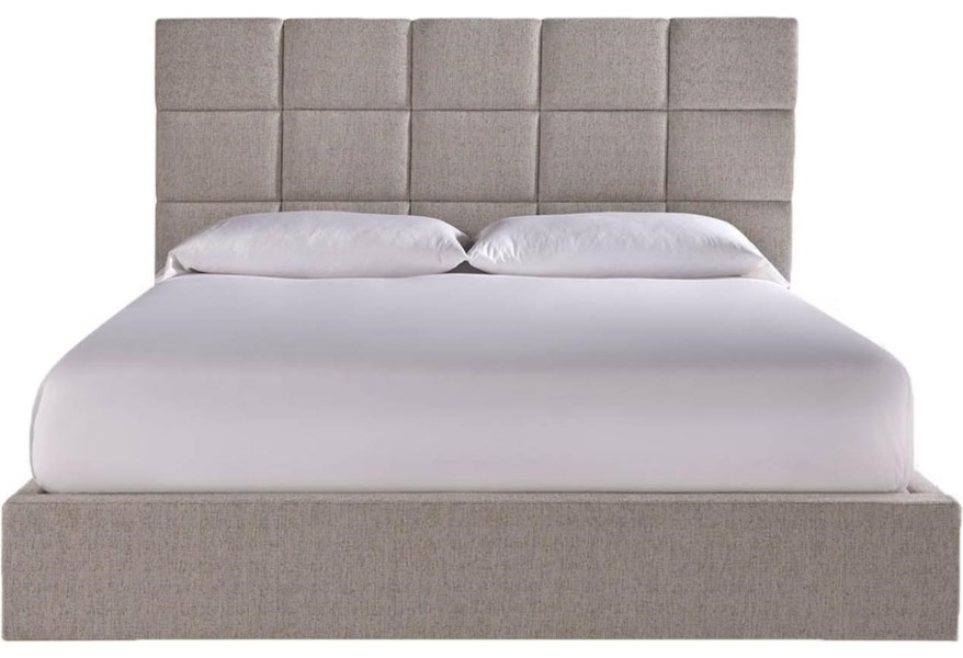 Universal Modern Onyx 847220b Bacall King Bed With Upholstered Headboard Baer S Furniture Platform Beds Low Profile Beds