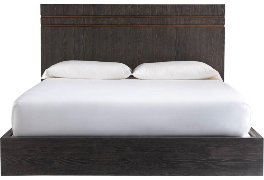 Universal Modern Onyx 847260b Beatty King Bed Hudson S Furniture Platform Beds Low Profile Beds