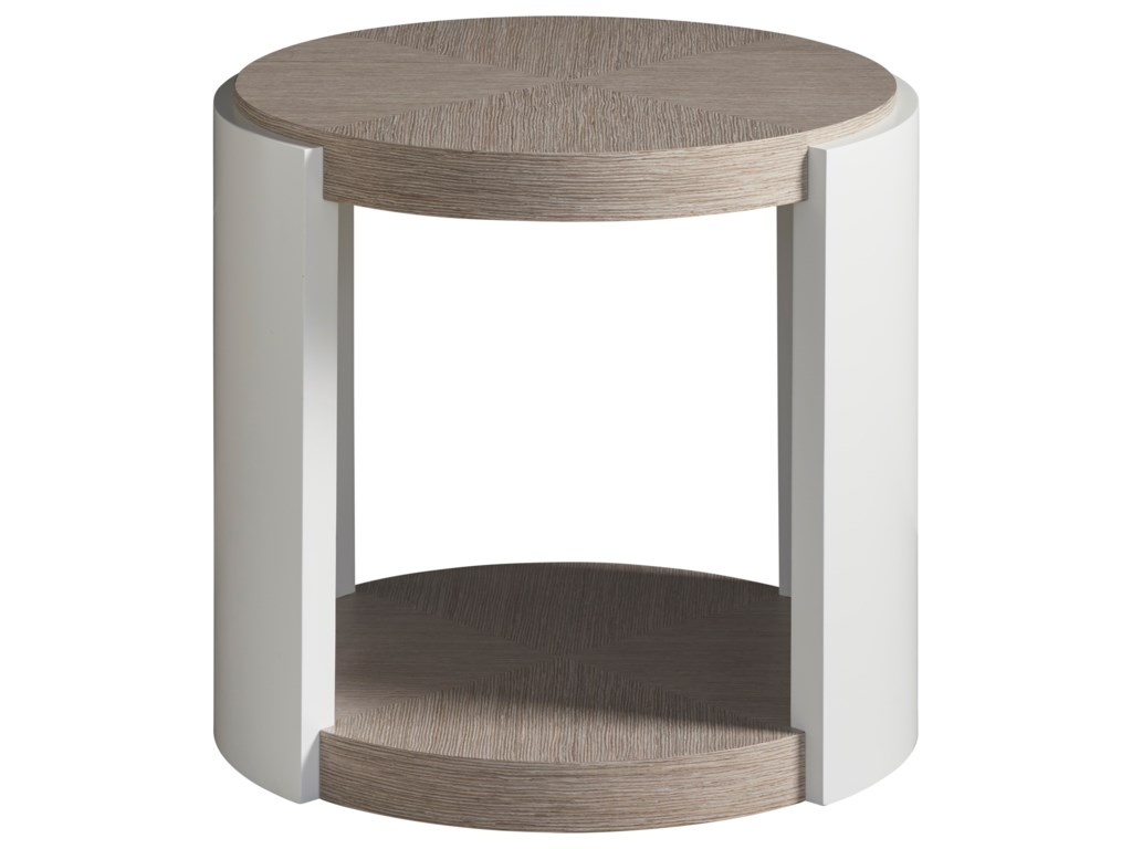 Universal Modern Round End Table With Shelf Furniture Barn End Tables