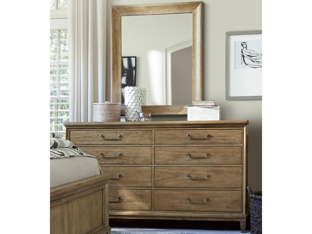 Universal Moderne MuseDresser and Mirror Set