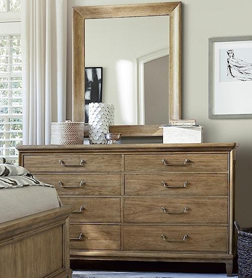 Universal Moderne Muse 8-Drawer Dresser and Mirror Set