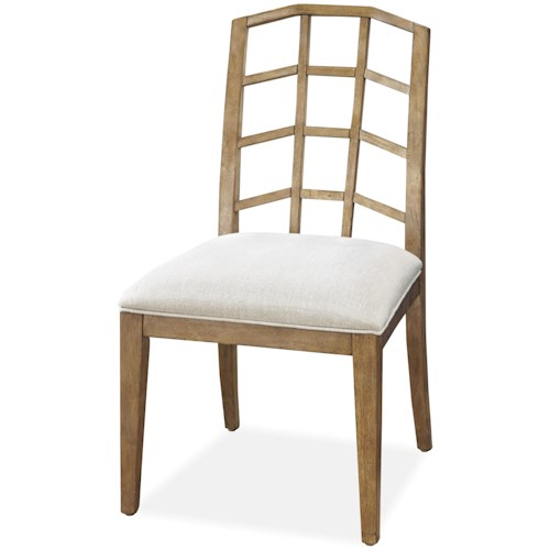 Universal Moderne Muse Side Chair with Lattice Back
