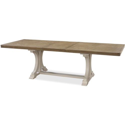 Universal Moderne Muse Rectangular Dining Table with Trestle Base