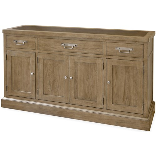 Universal Moderne Muse Sideboard with 4 Doors and Platter Storage