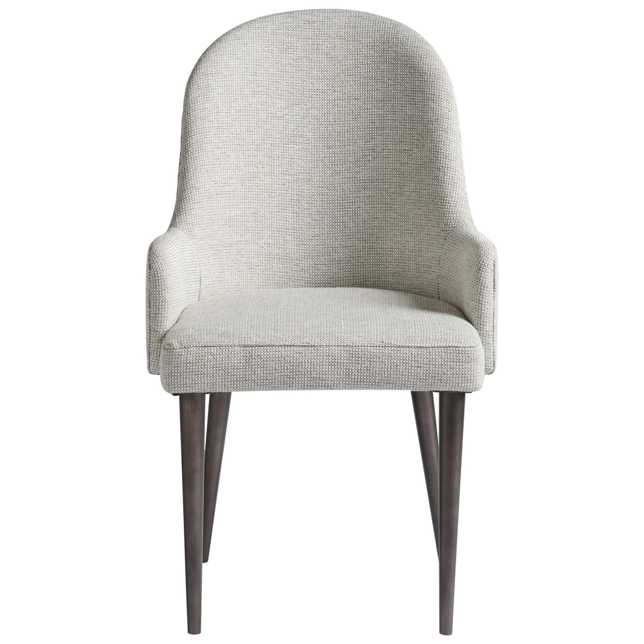 Yves Upholstered Dining Arm Chair with Slim Tapered Legs