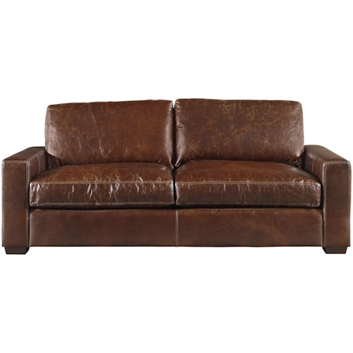 Oconnor Designs Oliver Leather Sofa With Track Arms