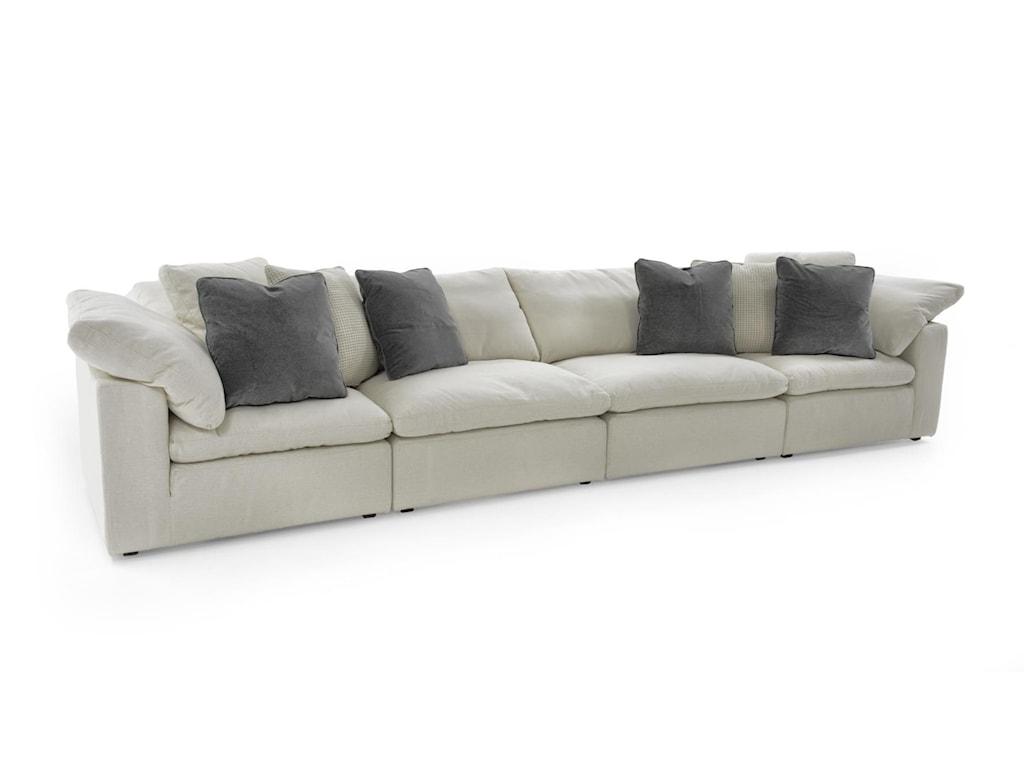 Universal Palmer4 Pc Sectional Sofa