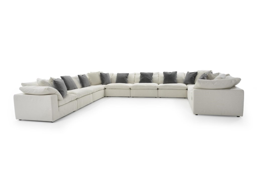 Universal Palmer10 Pc Sectional Sofa