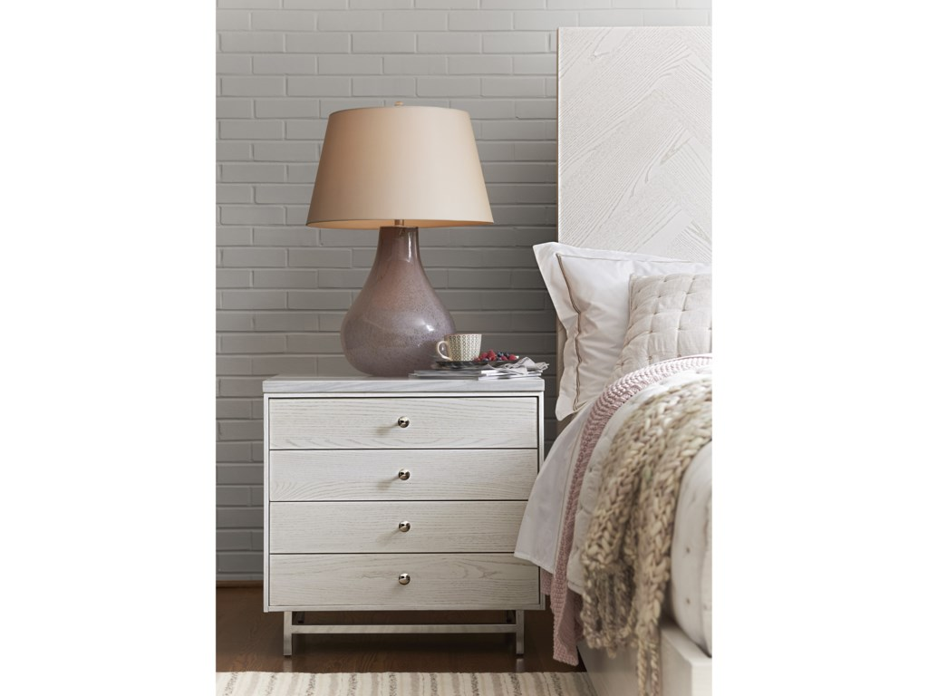 Universal ParadoxNightstand with Stone Top