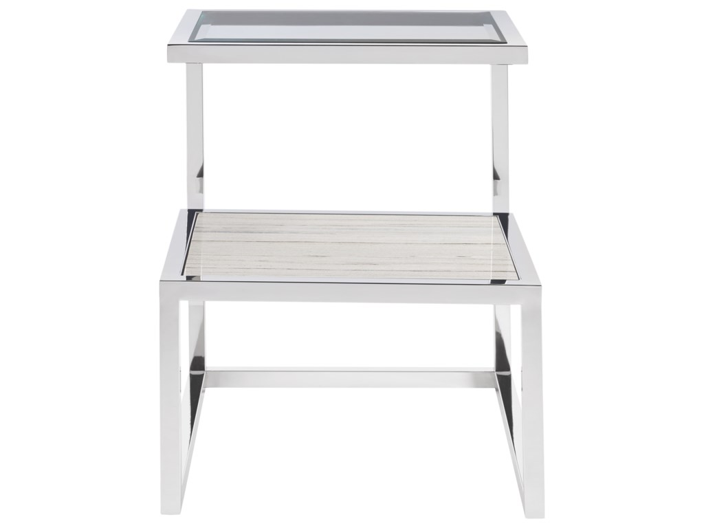 Universal ParadoxEnd Table with Stone Shelf