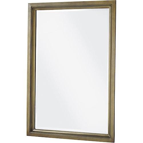 Universal Playlist Portrait Mirror with Beveled Glass