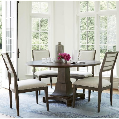 Universal Playlist 5 Piece Dining Set with Upholstered Side Chairs
