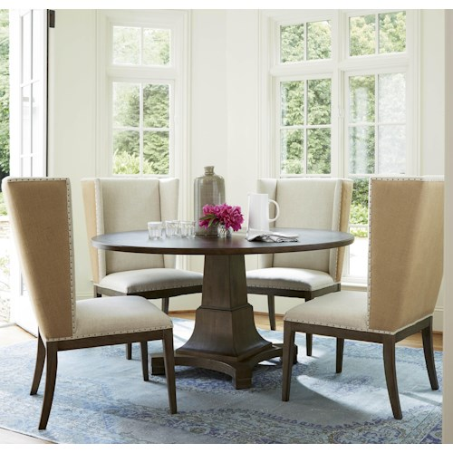 Universal Playlist 5 Piece Dining Set with Host Side Chairs